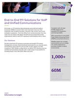 End-to-End 911 Solutions for VoIP and United Communications