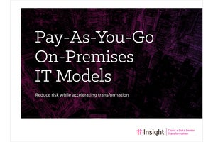 eBook: Pay-As-You-Go On-Premises IT Models