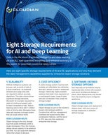 Eight Storage Requirements for AI and Deep Learning