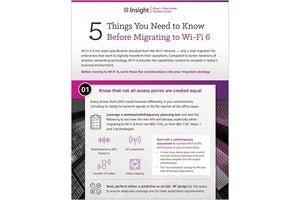 Infographic: 5 Things You Need to Know Before Migrating to Wi-Fi 6