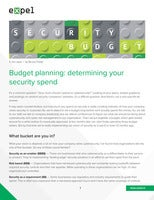 Budget planning: determining your security spend