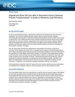 eSignatures Drive the Last Mile in Document-Centric Business Process Transformation: A Guide to Resiliency and Efficiency