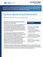 IDC: Electronic Signatures Accelerate Business