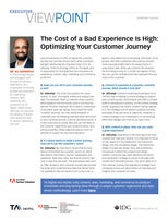 The Cost of a Bad Experience Is High: Optimizing Your Customer Journey