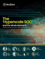 The 'Hyperscale SOC' and the Minds Behind It: A Machine-learning Foundation for Effective Cybersecurity