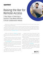 Raising the Bar for Remote Access