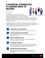 5 essential capabilities that IT leaders need to deliver