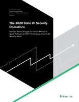 2020 Forrester State of Security Operations