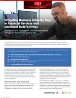 Mitigating Business Integrity Gaps in Financial Services with Intelligent Data Services