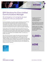 E911 Solutions for Cisco Unified Communications Manager