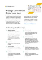 A Google Cloud VMware Engine cheat sheet