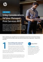 5 Key Considerations for your Managed Print Services RFP
